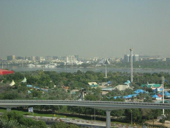 Grand Hyatt Dubai: View over the Creek and the airport