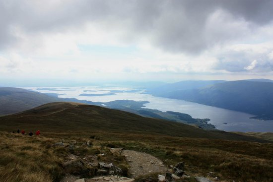 Ben Lomond: Looking down as I went up unto the clouds.