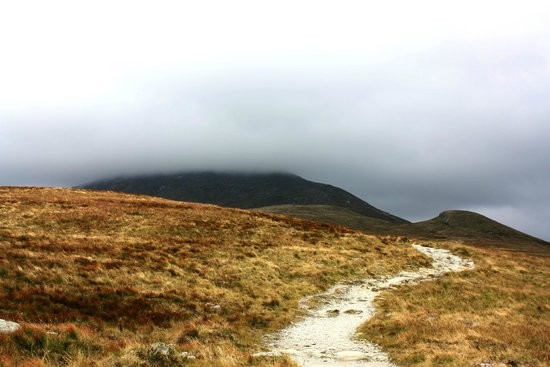 Ben Lomond: Looking back up as I was descending. YAY!!!