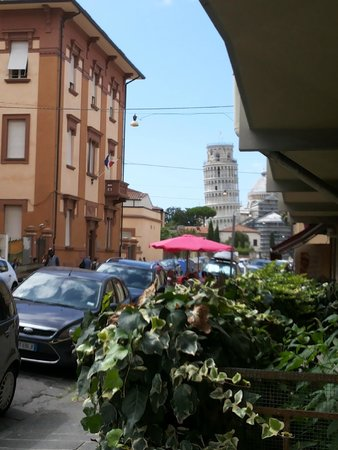 Bed & Breakfast 2 Steps from Tower: This is the view from the outdoor of the B&B
