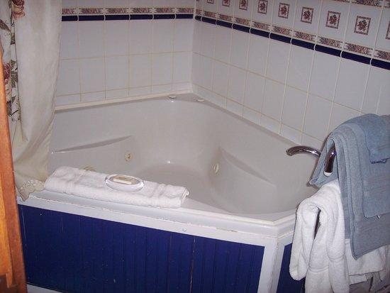 Mont Rest Inn: tub, Bridget's French Roses room