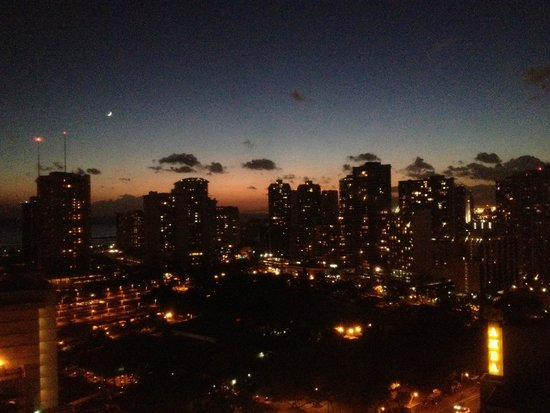 Maile Sky Court: Evening view from the room