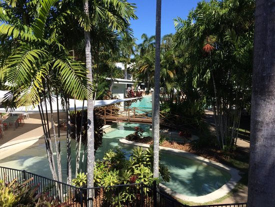 QT Port Douglas: View from the room over the pool