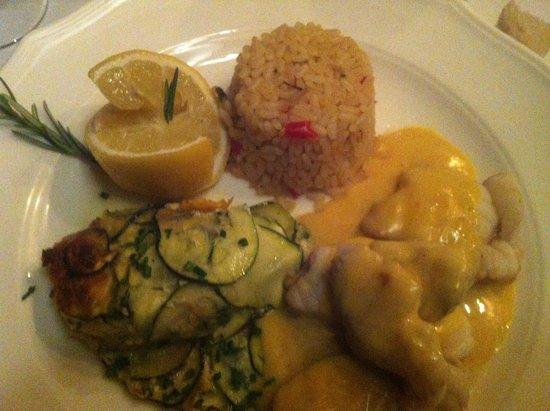 Domaine de Rombeau : Lottes sauce muscat et safran