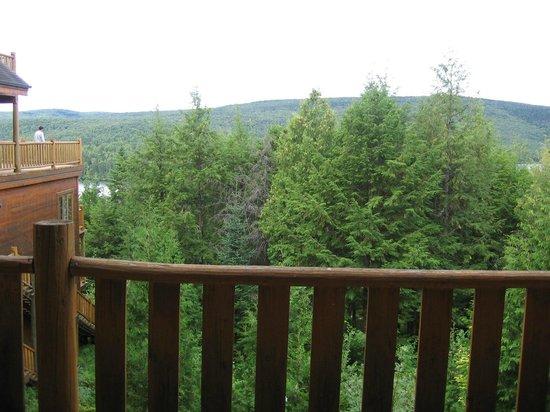 Hotel Sacacomie : chambre vu sur le lac
