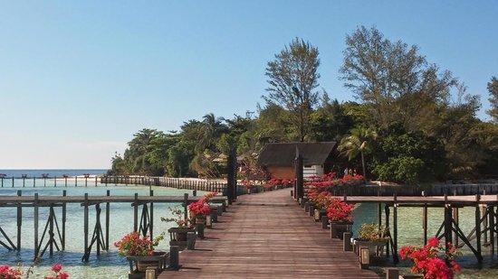 Lankayan Island Dive Resort : Vista desde el embarcadero