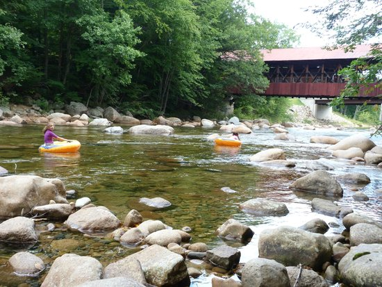 Covered Bridge House: Floating downstream