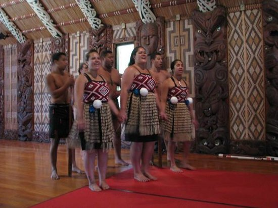 Waitangi Treaty Grounds : The singing group - so passionate and involved.