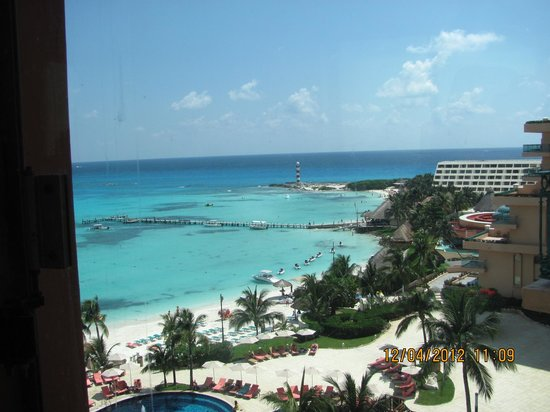 Grand Fiesta Americana Coral Beach Cancun: vista de la la playa del hotel