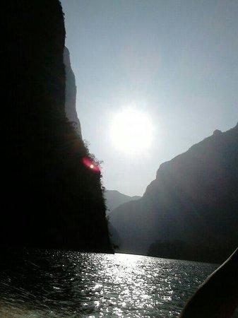 Parque Ecoturistico Canon del Sumidero: puesta del sol