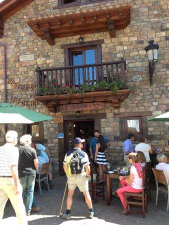 La Solana de Barcena Mayor: Entrada restaurante