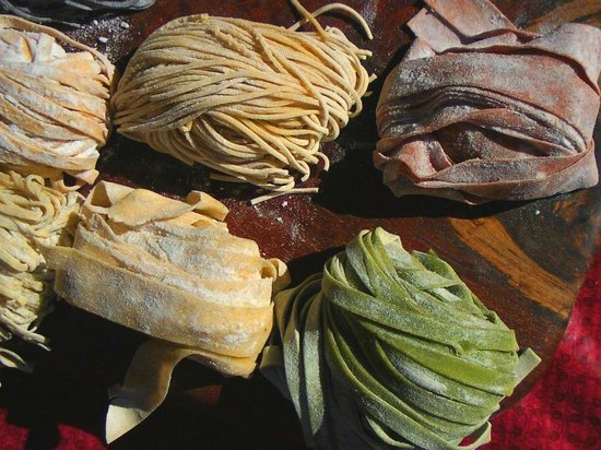 Marion Square : Fresh, and colorful pasta for sale at the Farmer's Market
