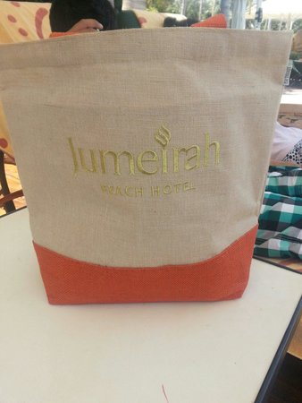 Free beach bag provided by JBH - Picture of Jumeirah Beach Hotel ...