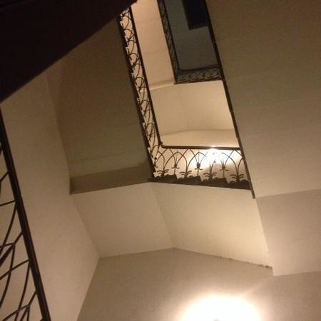Hotel Casci : staircase at the hotel