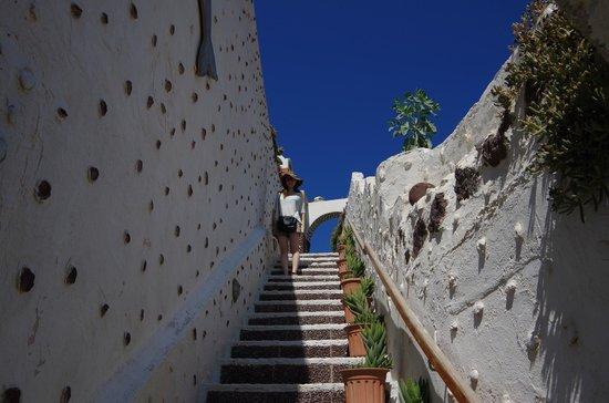 Red Beach : 途中の階段
