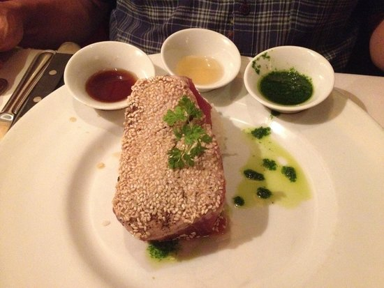 The Capital Grille: Sushi-Grade Sesame Seared Tuna with Gingered Rice