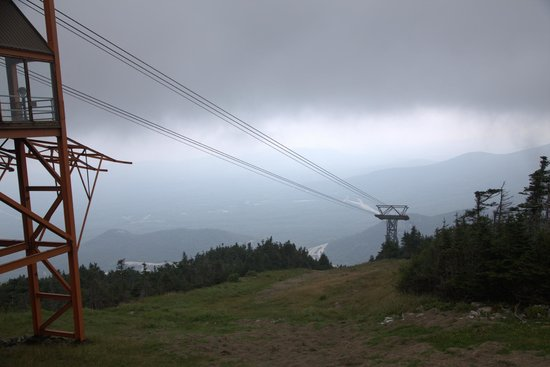 Cannon Mountain: The tram line from the top