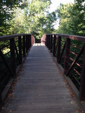 Stowe Recreation Path: Trail crosses the river several times on well maintained bridges
