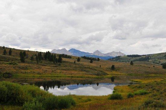 Covered Wagon Ranch: Mountain vista