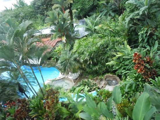 Hotel Si Como No : Looking down at the pool.