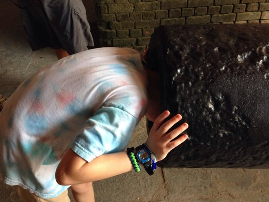 Fort Zachary Taylor Historic State Park: My son in a canon