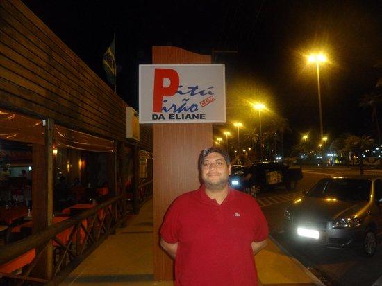 Pitu com Pirao da Eliane : letreiro do restaurante