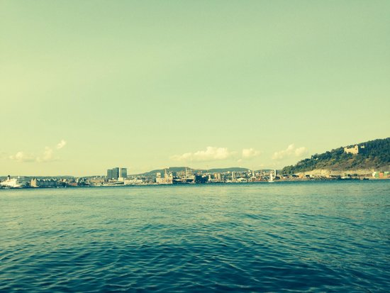 Oslo Fjord: View from kayak, we love paddling the Oslofjord