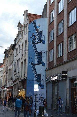 Tintin Mural Painting: Mural