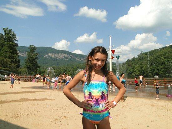 Beach at Lake Lure & Water Works: Jey