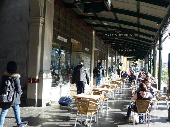 Queen Victoria Market : Para tomar un cafe