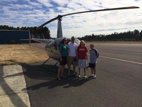 ApexHeli Tours: Photo after helicopter trip