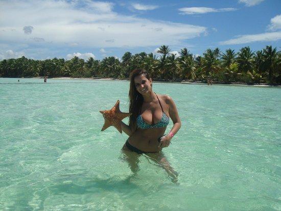 Parque Nacional del Este, Dominicaanse Republiek: la piscina natural y las estrellas de mar...