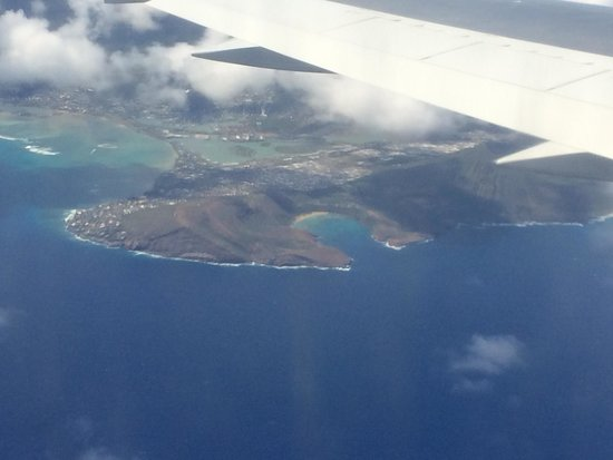 Hanauma Bay Nature Preserve: View from the air