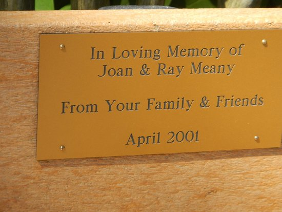 Bench Memorial Plaque For My Parents Picture Of Cape May
