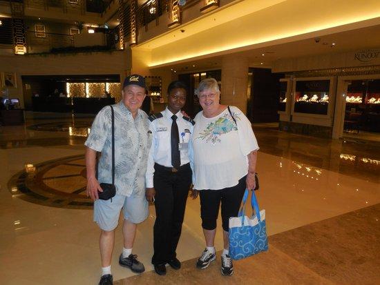 Sheraton Dubai Creek Hotel & Towers: Our favorite security guard