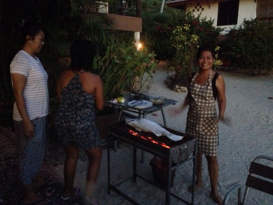 Chills Resort: Nid almost ready to turn the delicious fish!