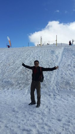 Over the top of Mount Titlis