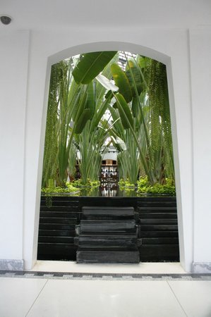 The Siam: Green plants create a relaxing atmosphere inside the hotel.