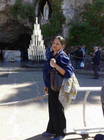 Hotel La Solitude : Grotto at Lourdes.