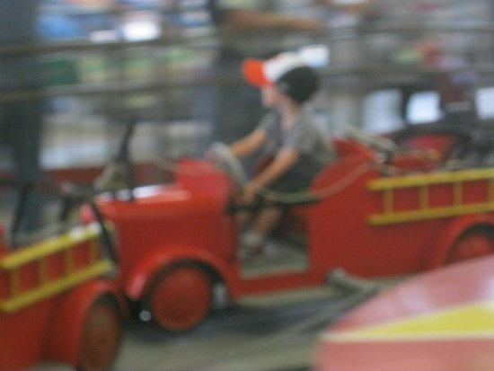 Funland: Fire truck ride in motion