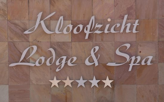 Kloofzicht Lodge & Spa : Entrance