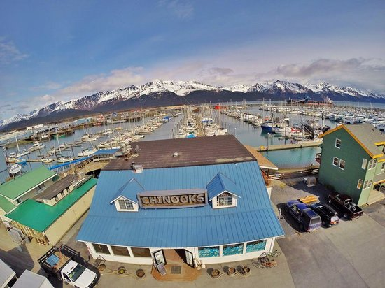 Chinooks Waterfront Restaurant: Aerial View