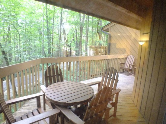 Foxhunt at Sapphire Valley: upper level porch2