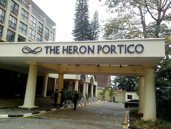 The Heron Portico: View from parking