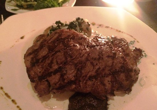 Mosto: Ribeye with potatoes and olive sauce
