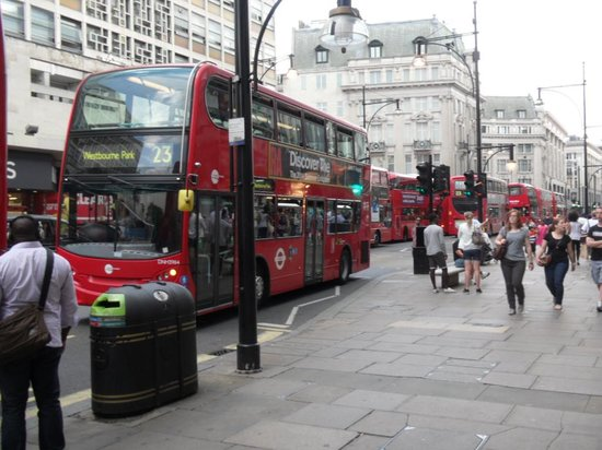 Oxford Street: Shops and busses and people!