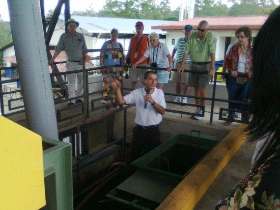 Espiritu Santo Coffee Tour: Explanations about coffee milling.