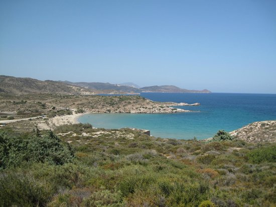 Milos Achivadolimni: view from the camping