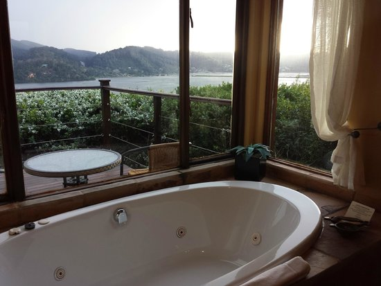 Elephant Hide of Knysna Guest Lodge: Amazing bath tub