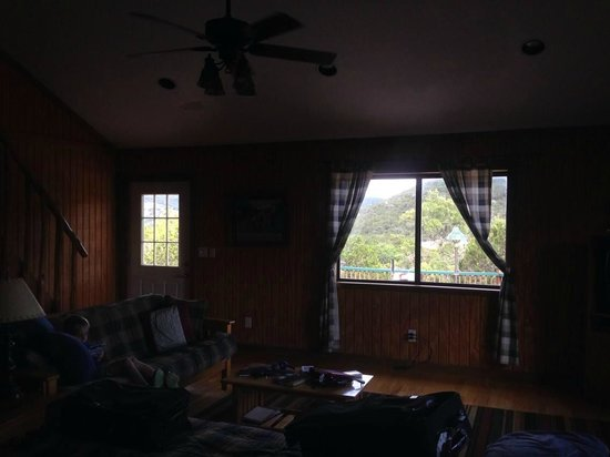 Foxfire Log Cabins: View from Hacienda Del Sol living room.